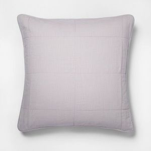 Hearth & Hand• solid quilted euro sham jet grey